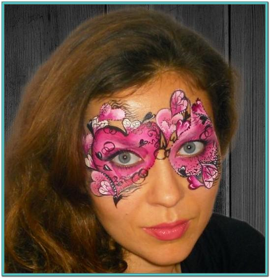 Valentine Face Painting Ideas