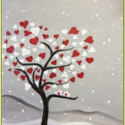 Valentine Heart Painting Ideas