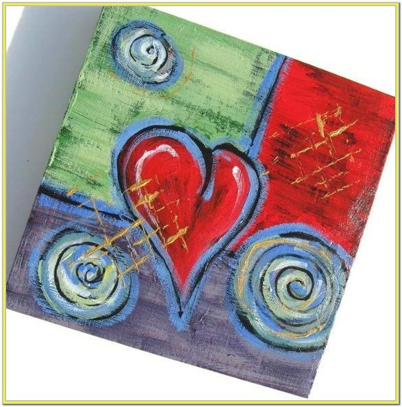 Valentine's Day Acrylic Painting Ideas