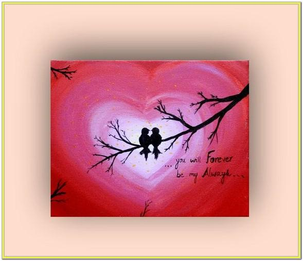 Valentine's Day Canvas Painting Ideas