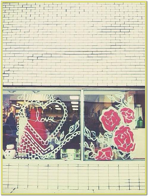 Valentine's Day Window Painting Ideas