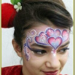 Valentines Face Painting Ideas