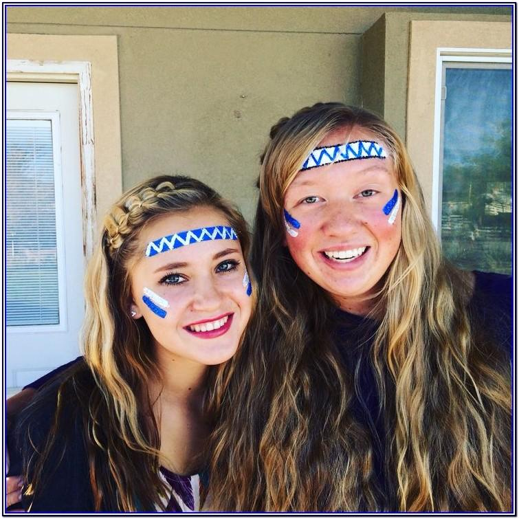 white face paint ideas for football games