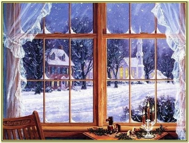 Window Painting Ideas For Winter