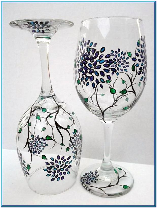 Wine Glass Paint Ideas