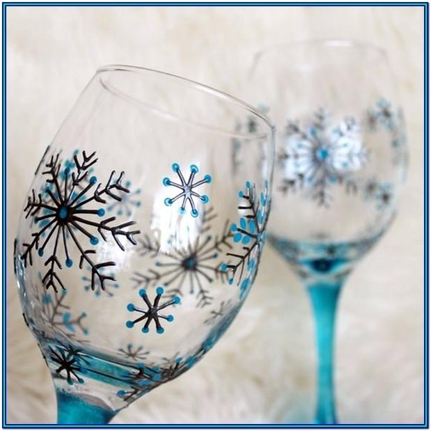 Wine Glass Painting Ideas