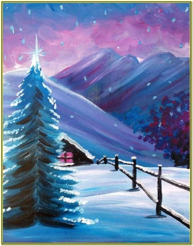Winter Painting Ideas Easy