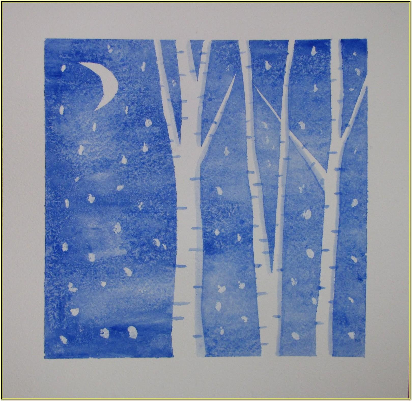 Winter Painting Ideas For Kindergarten