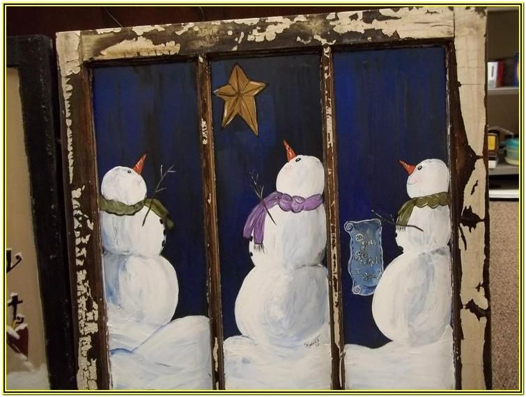 Winter Window Painting Ideas