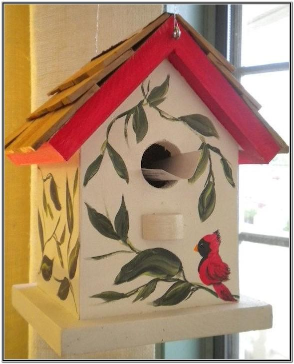 Wooden Birdhouse Painting Ideas