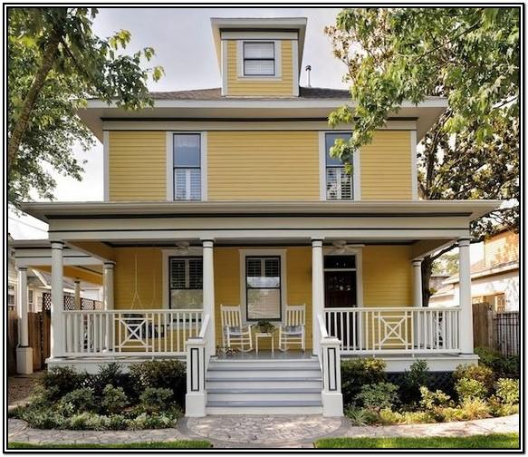 Yellow Exterior House Color Schemes