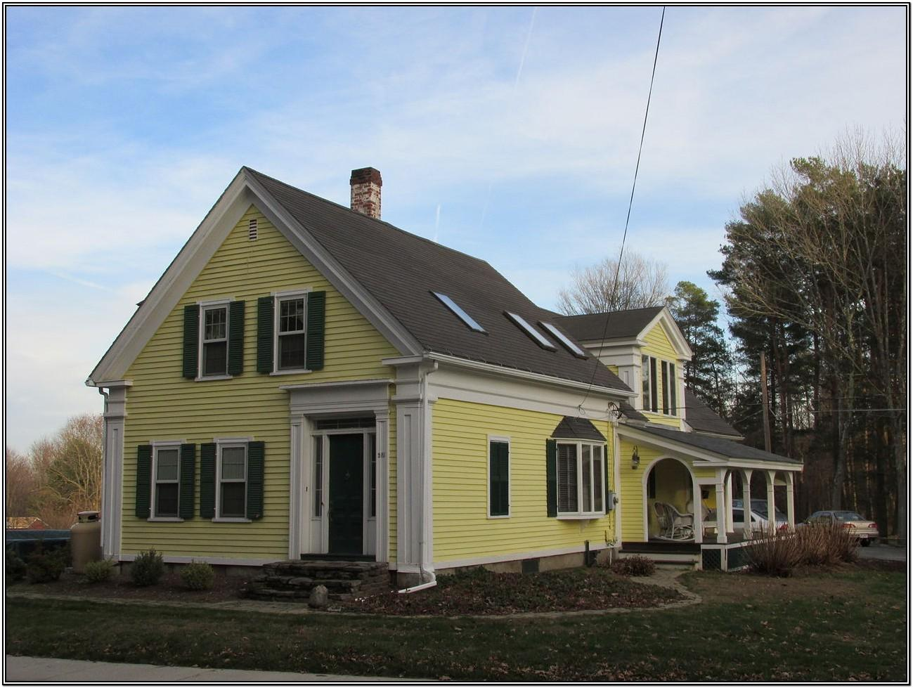 Yellow Exterior Paint Color Schemes