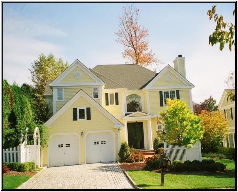 yellow exterior paint combinations