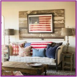 American Flag Living Room Decor