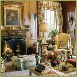 Antique Gold Living Room Accessories