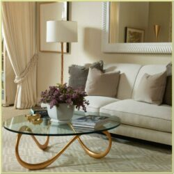 Beige Brown Living Room Decorating Ideas