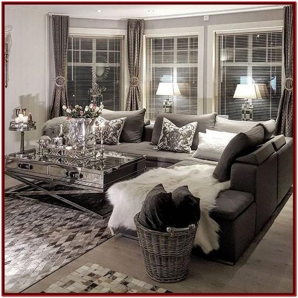 Black And Silver Decor For Living Room