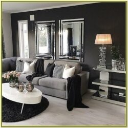 Black And Silver Living Room Decor