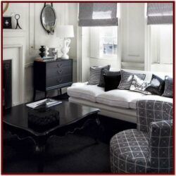 Black And White Decor For Living Room