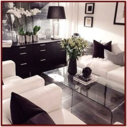 Black And White Living Room Decorations