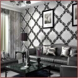Black And White Wallpaper Ideas For Living Room
