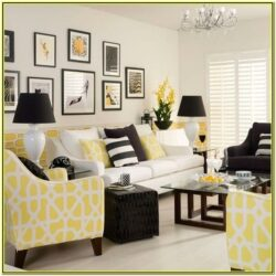 Black And Yellow Living Room Decor