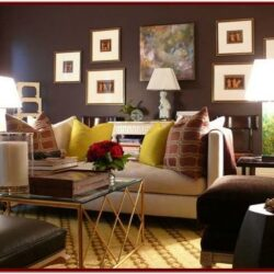 Black Brown Decor Living Room
