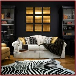 Black Gold And White Living Room Decor