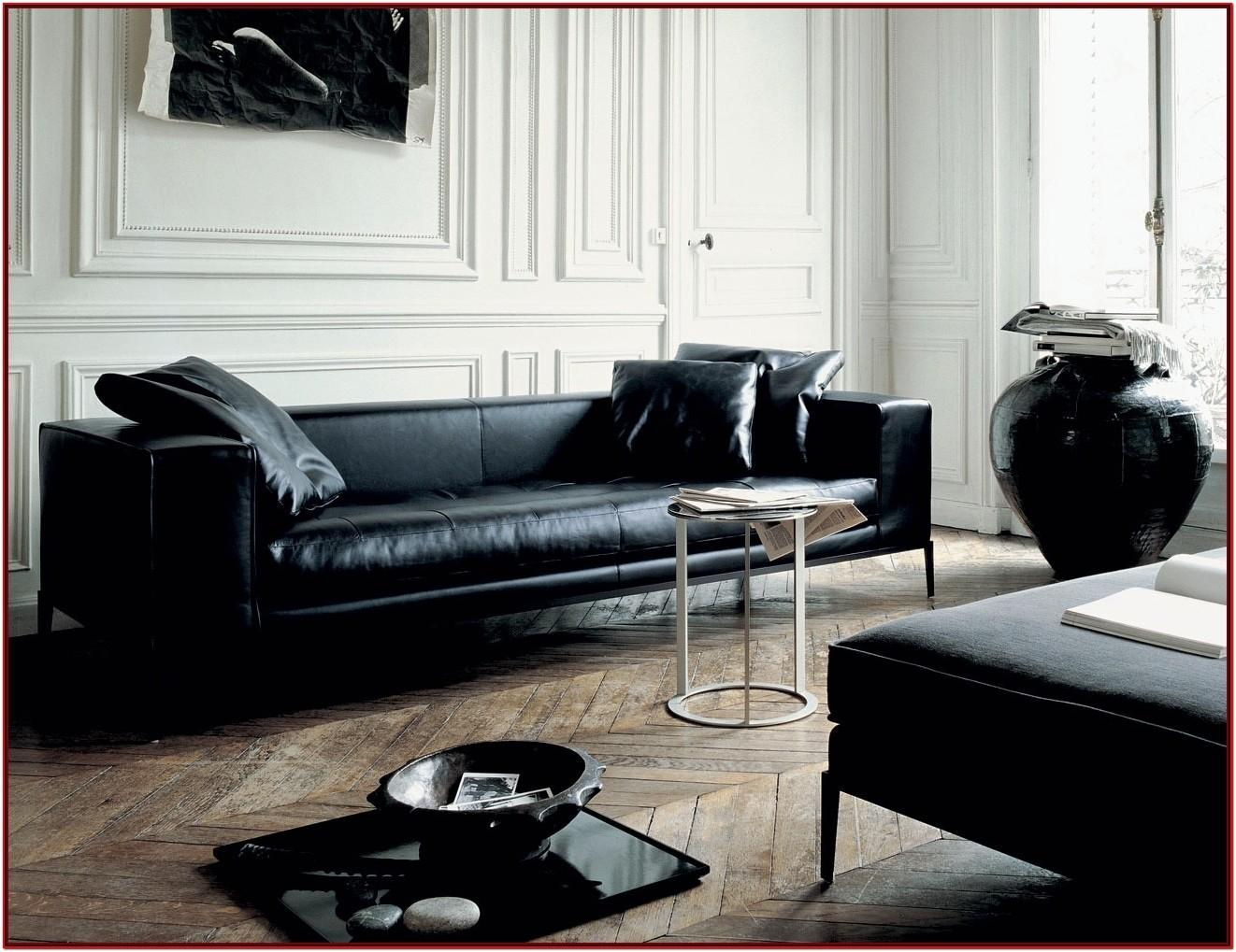 Black Leather Living Room Decor
