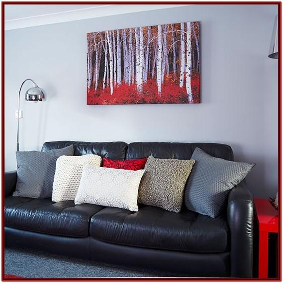 Black Red And Gray Living Room Ideas