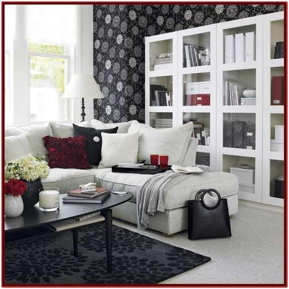 Black Red And White Living Room Decor