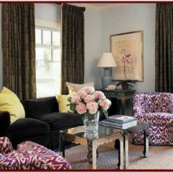 Black White And Purple Living Room Decor