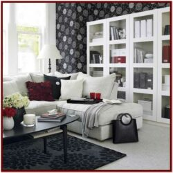 Black White And Red Living Room Decor