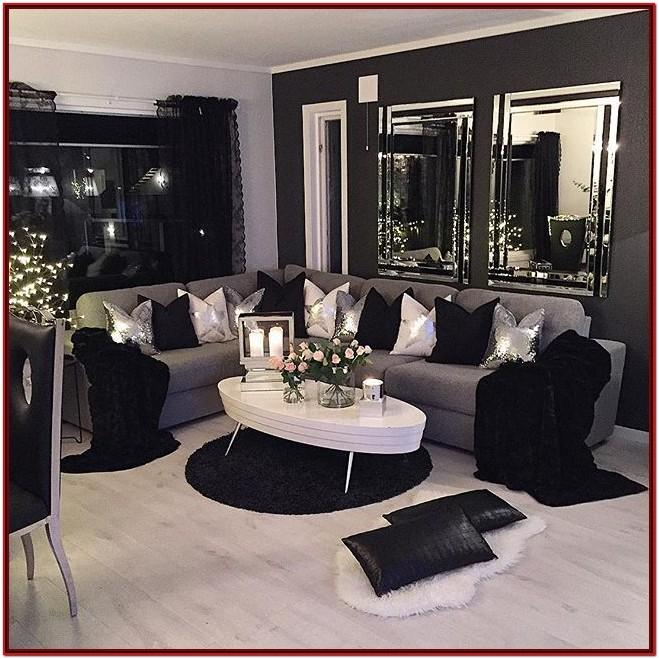 Black White And Yellow Living Room Decor