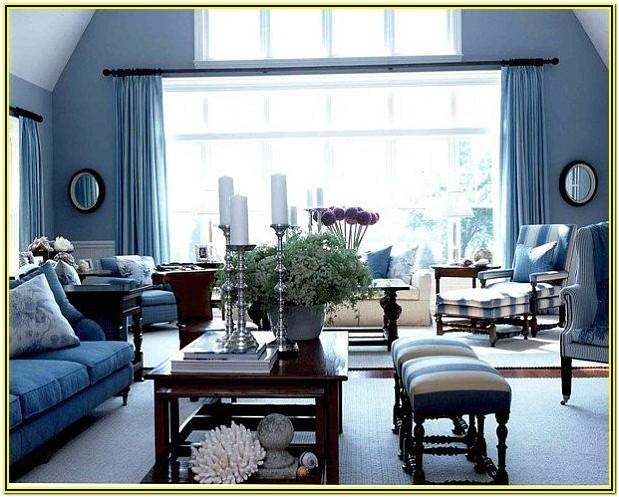 Blue Accent Decor Living Room