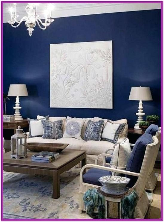 Blue Accent Living Room Decor