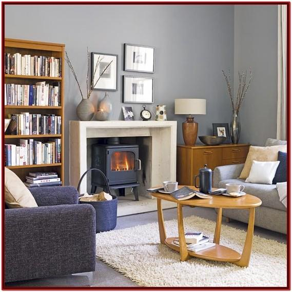 Blue And Gray Living Room Walls