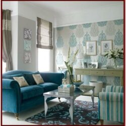 Blue And White Living Room Theme