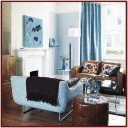 Blue Brown Decor Living Room