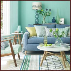 Blue Green Living Room Decorating Ideas