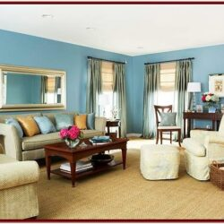 Blue Wall Decor Living Room