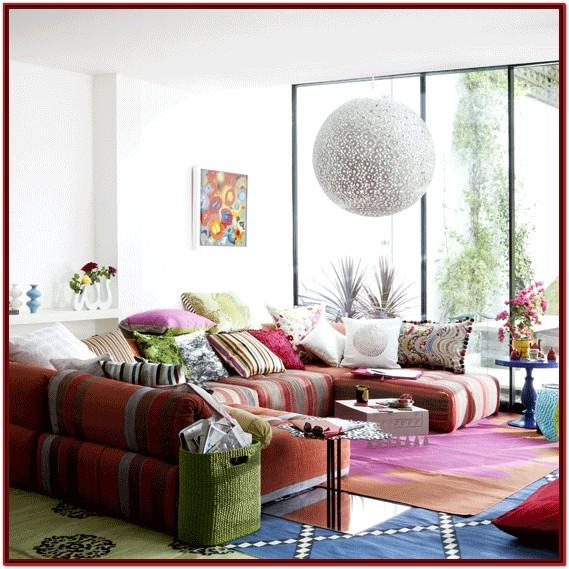 Boho Style Living Room Decor