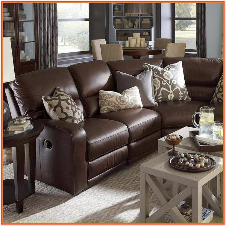 Brown Leather Furniture Living Room Decor