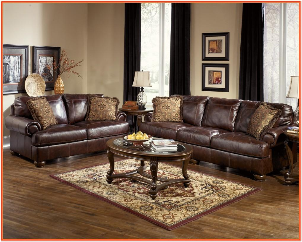 Brown Leather Sofa Living Room Decor