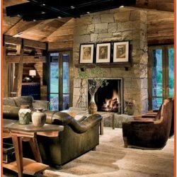 Cabin Living Room Designs