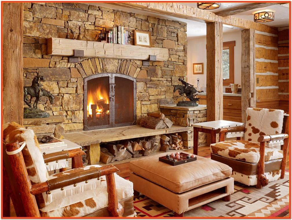 Cabin Style Living Room Decor