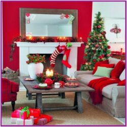 Centerpiece Living Room Table Christmas Decor