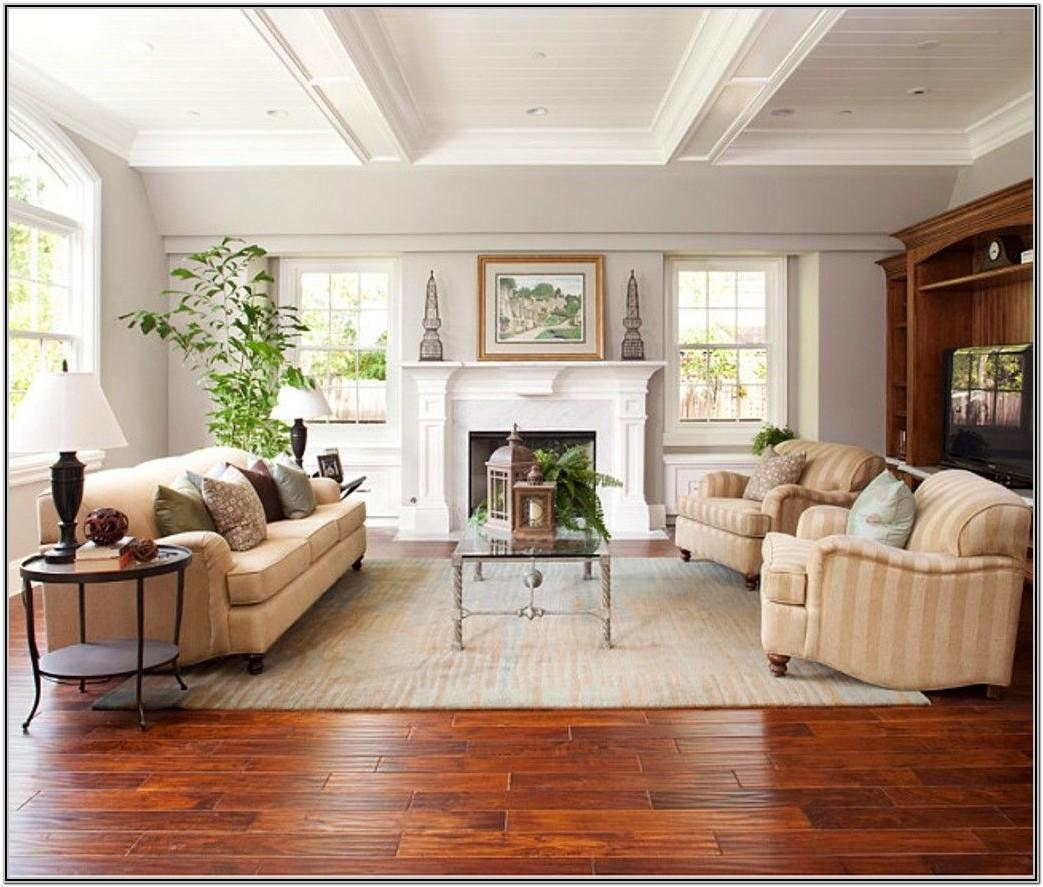 Cherry Wood Floor Living Room Decor