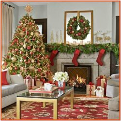Christmas Decor Living Room Pinterest