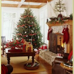 Christmas Decorated Living Room Ideas